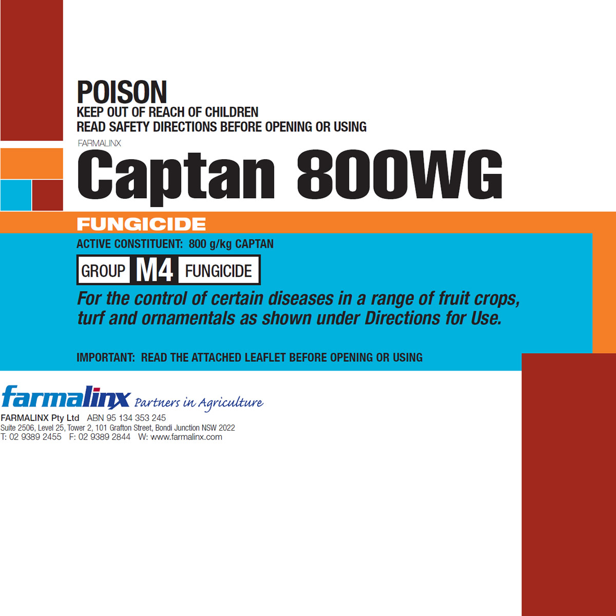 This is an image of Rare Captan 80 Wg Label